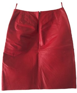 Newport News Leather Skirt red