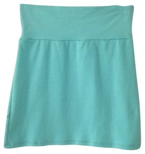 American Apparel Mini Skirt Aqua