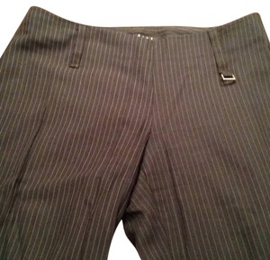 Sisley Trousers Pinstripe Wide Leg Pants Black