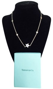 Tiffany & Co. Tiffany's Silver Star With Blue Stone Necklace