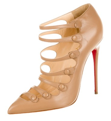 where to buy christian louboutin shoes - christian louboutin pointed-toe boots Nude leather | The Little ...