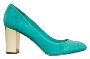 Dolce Vita Suede Mirror Gold Teal Pumps