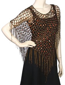 Other 100% Polyester Sequined Crochet Poncho