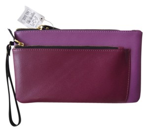 Neiman Marcus Wristlet in Berry/Burgundy