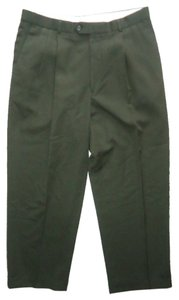Pronto Uomo Mens Wool Slacks Trousers Trouser Pants Green