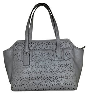 Coach Small Handbag Gray Satchel in Light gray