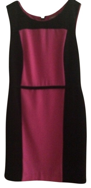 Item - Pink and Black Above Knee Work/Office Dress Size 4 (S)