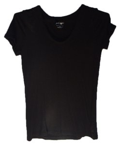 Lord & Taylor Short Sleeve V-neck T Shirt Blac
