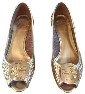 Tory Burch Gold/yellow Wedges