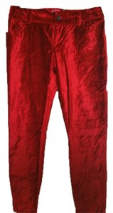 Alice + Olivia Straight Pants Red