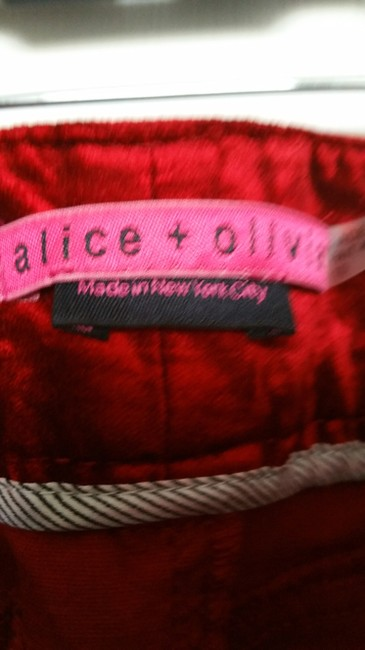 Alice + Olivia Straight Pants Red Image 1