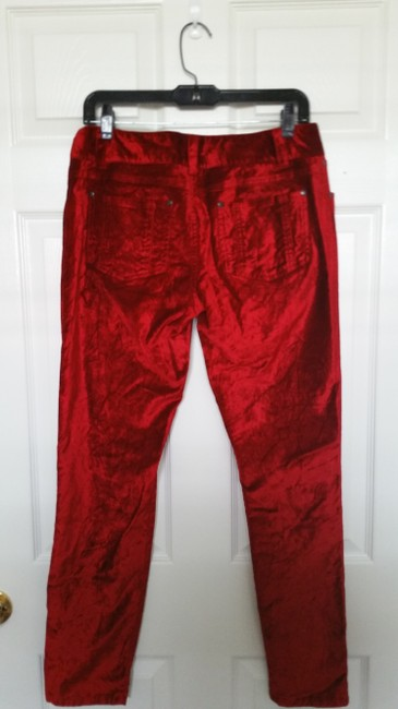 Alice + Olivia Straight Pants Red Image 2