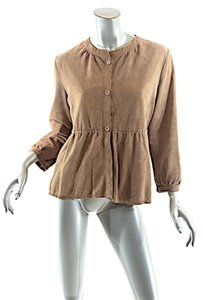 Banana Republic Br Top Camel Suede