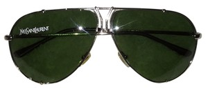 Saint Laurent Yves Saint Laurent Logo Accented Light Gold Aviators
