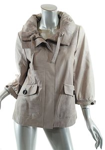 Banana Republic Distressed Taupe Leather Jacket