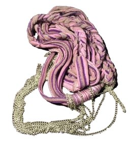 Avon Avon Mark Embelish a Little Fabric & Chain Necklace New Purple