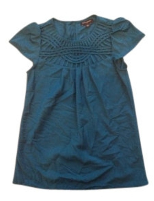 Preload https://item1.tradesy.com/images/banana-republic-teal-silky-lattice-cut-out-blouse-size-6-s-6305-0-0.jpg?width=400&height=650