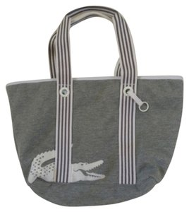 Lacoste Tote in White And Grey
