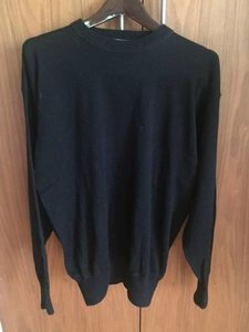 David Meister Mens Black Meister Brand Wool Ski Sweater Size Xl