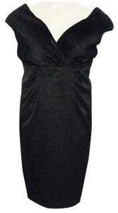 London Times Knee-length Polyester-satin Cocktail Dress