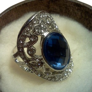 Other 925 silver ring with shield shaped face with lots of details, size 8
