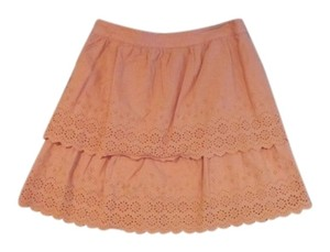 J.Crew Summer Eyelet Mini Skirt Light Orange