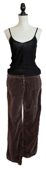 Item - Brown Velour Innovator Pants Size Petite 6 (S)