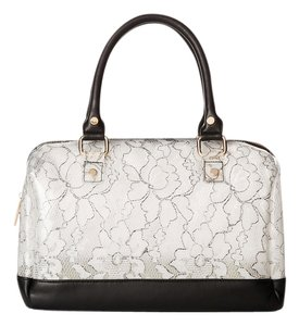 deux lux Duffel Lace Vegan Leather Shoulder Bag