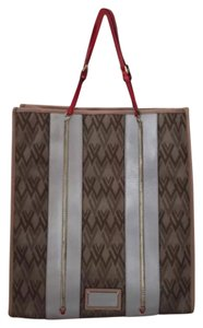 Valentino Tote in Brown, Gray, Red And Beige