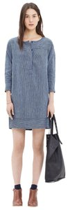 Madewell short dress navy Denim Stripe Pockets on Tradesy