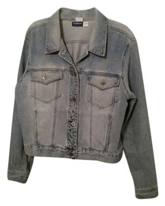 Liz Claiborne Light Wash Womens Jean Jacket