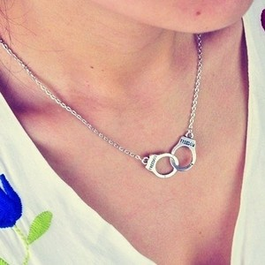 New Handcuffs choker pendant necklace Women/Girl lover Valentine's Day gift