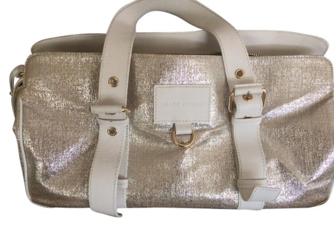 Item - White/Gold Leather Tote