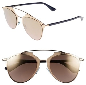 Dior DIOR Reflected 52MM Mirror Aviator Sunglasses Rose Gold/Gold Shaded Mirror