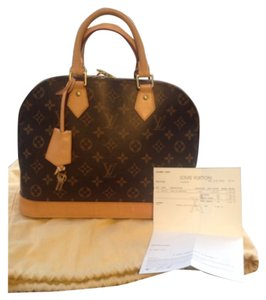 Louis vuitton Alma pm with receipt take 200 off w code Satchel in Monogram