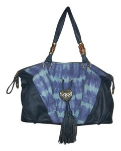 Sharif Satchel in Blue Ikat Tie-Dye
