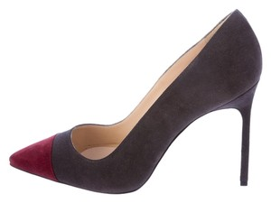 Manolo Blahnik Bb Bipunta Grey Pumps