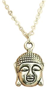 Other New Silver Buddha pendant necklace, best friends gift,