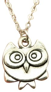 Other New Silver Double Sided Cute Owl pendant necklace, best friends gift, Best Friend Necklace