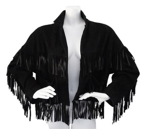 Donna Karan Fringe Suede Vintage Ready To Wear Leather Jacket