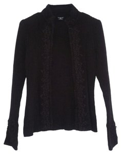 Tribal Dark Embroidered Knit Cardigan