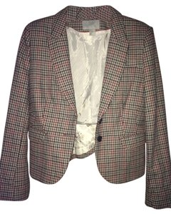 H&M Multicolored Houndstooth Blazer