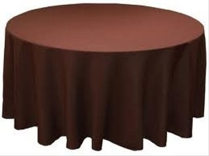 Chocolate Round Tablecloths