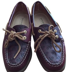 Sperry Maroon Flats