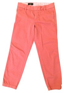 J.Crew Cropped Chino Chino Khaki/Chino Pants Faded rose red