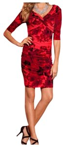 Boston Proper Night Out Spandex Floral Dress