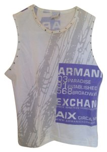 A|X Armani Exchange Cotton Washable Top White