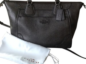 Coach Mickey Crossbody Leather Versatile Nwt All Occasion Satchel in Gunmetal