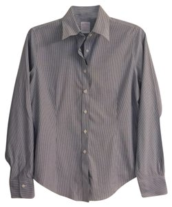 Brooks Brothers Button Down Shirt Blue, grey, white
