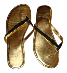 Volcom Gold and Black Sandals